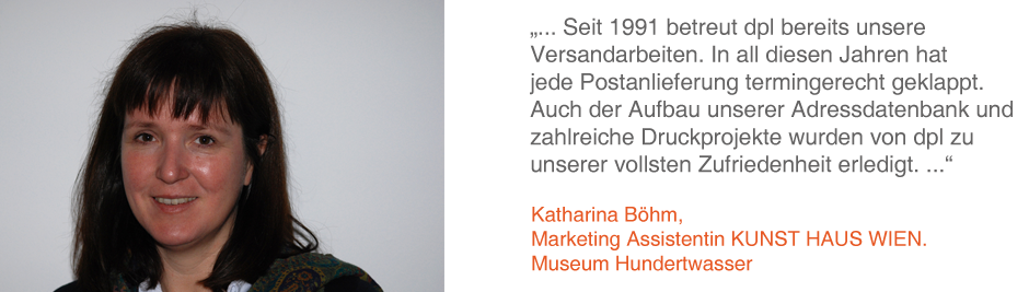 Katharina Böhm, Marketing Assistentin, KUNST HAUS WIEN Museum Hunterwasser