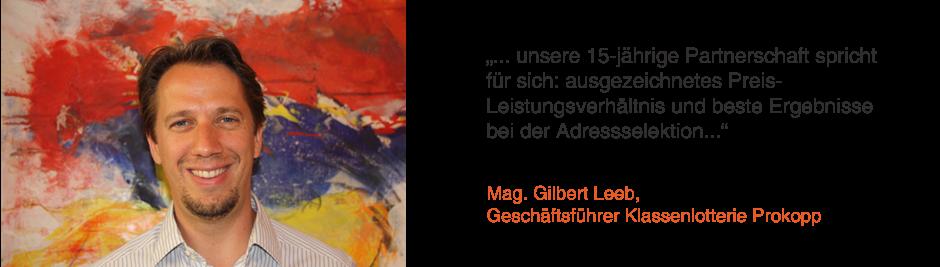 Mag. Gilbert Leeb, Geschäftsführer Klassenlotterie Prokopp